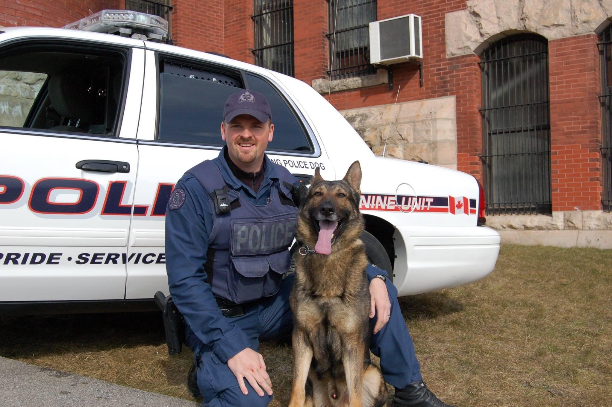 Constable Neumann and police service dog Trooper