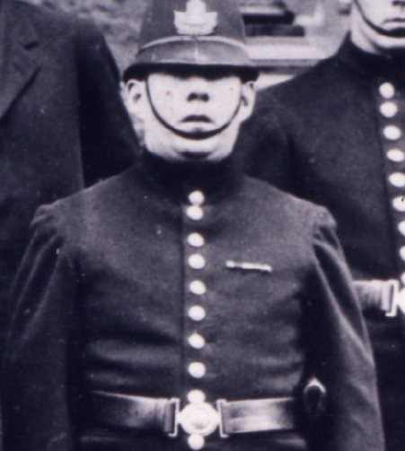 Constable John Teevens dressed in his uniform